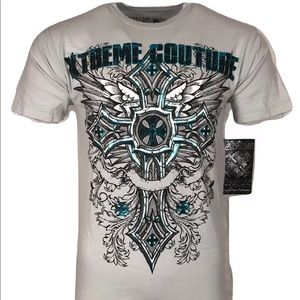 XTREME COUTURE AFFLICTION Men T-Shirt POINT BLANK